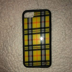 Wildflower yellow plaid cell case IPhone 6/7/8